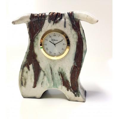 Horloge en céramique 6 pouces taureau