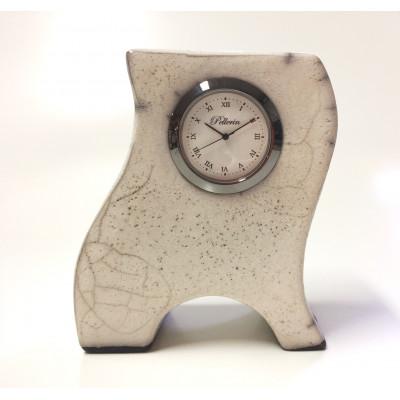Horloge en céramique 4 pouces blanche