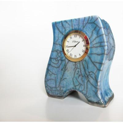 Horloge en céramique bleue 17001
