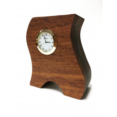 Horloge en bois Tigerwood